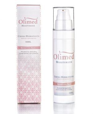 Vista de una crema hidratante especial para pieles sensibles