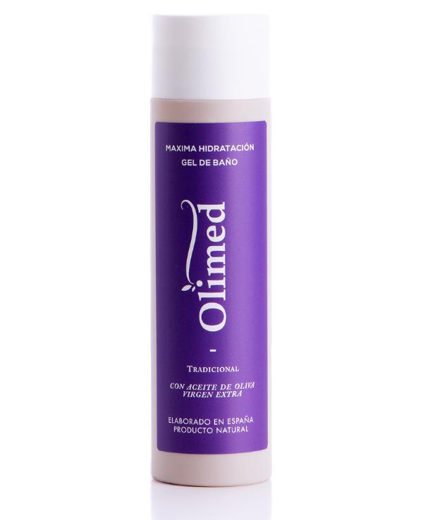 gel de baño hidratante de la marca olimed