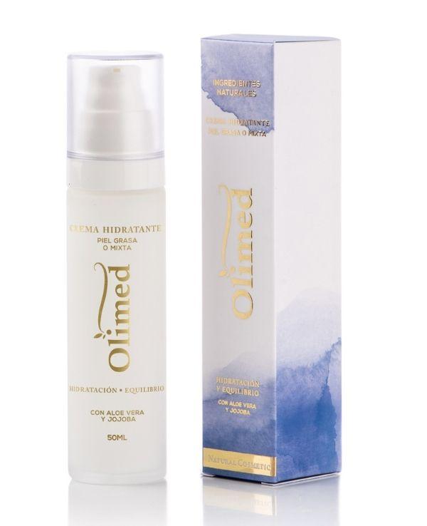 Crema hidratante para piel con grasa o mixta: Olimed